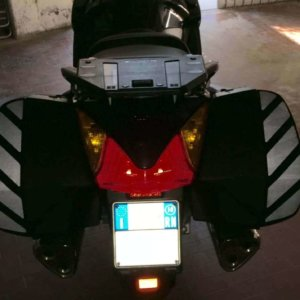 ST1300 PAN EUROPEAN REFLECTIVE PANNIER SAFETY CHEVRONS-0